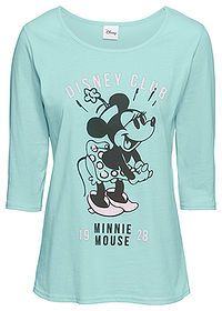Tričko s potlačou Minnie Mouse aqua pastelová Minnie Mouse, Disney Style, Aqua, Shirts, Disney Fashion, Mens Tops, Products, Cotton, Water