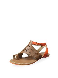 www.myhabit.com  Toe ring sandal with a lovely laser-cut upper features a contrasting adjustable ankle buckle