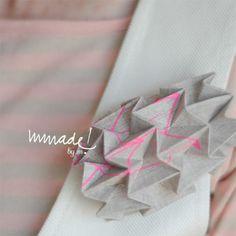 Wearable origami (silk screen printed)