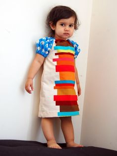 BOOKS AND ELEPHANTS DRESS - Super Chic - Super Cool Mod Dress for Baby or Toddler or Big Girl