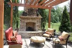 Melissa Cohen uploaded this image to 'Atlanta House'. See the album on Photobucket. Outdoor Living Areas, Outdoor Spaces, Outdoor Patios, Outdoor Decor, Outdoor Ideas, Living Spaces, Outdoor Fireplace Designs, Outdoor Fireplaces, Fireplace Ideas