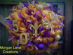 50th wedding anniversary wreath $40  Morgan lane creations  Find us on facebook