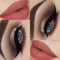 """Brows: @nyxgermany @nyxcosmetics brow pomade in """"brunette"""" Eyeshadow…"""