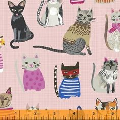 Carolyn Gavin - Hot Dogs and Cool Cats Organic - Cool Cats in Pink