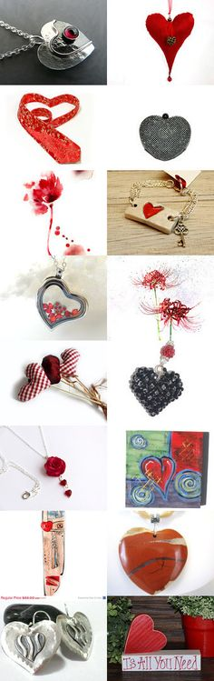 RED ♥ SILVER by Laura P. on Etsy--Pinned with TreasuryPin.com