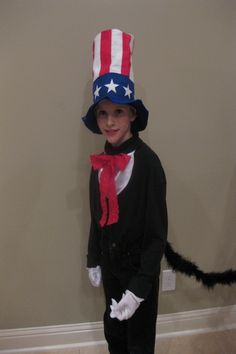 DIY Halloween Costume Cat in the Hat - Thing 1 or 2