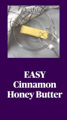 Flavored Butter, Homemade Butter, Butter Recipe, Fun Baking Recipes, Fun Easy Recipes, Cooking Recipes, Appetizer Recipes, Appetizers, Cinnamon Honey Butter