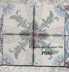 Antique tiles. Mesa Bonita has been collecting hydraulic tiles for the past 10 years. All the tiles have been saved from the city dumpsters and desperately need a second life. They can be turned into a pretty table, console, nightstand, frame, trivet, coaster… Contact me for information, I have a wide selection of styles and colors and a whole bunch of ideas: Benedicte Bodard  Mesa Bonita/Barcelona Tiles benedictebodard@gmail.com www.mesabonita.es https://www.pinterest.com/bbodard/