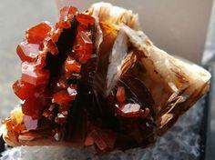 Venadinite with barite from morroco♡