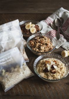 Because I don't have children, I never quite understood why back-to-school season was so stressful for parents. Brunch Recipes, Breakfast Recipes, Homemade Oatmeal, Granola, Oatmeal Recipes, Breakfast Time, Food Inspiration, Nutella, Food Porn
