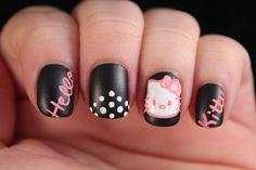 Hello Kitty Nail Art by Phoebe711