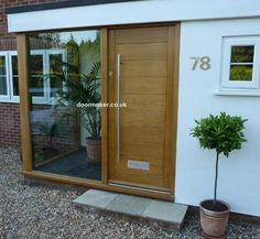 Porch Designs For Bungalows Uk Modern Front Porches Door Porch Doors intended for Front Porch Designs For Bungalows Uk Porch Uk, Front Door Porch, Porch Doors, Front Porch Design, House With Porch, Front Windows, Porch With Flat Roof, Balcony Doors, Garage Doors