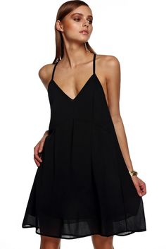 Black spaghetti strap dress x3