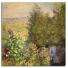Corner of the Garden at Montgeron, 1876 by Claude Monet Painting Print on Rolled Canvas