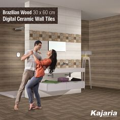 Our Digital Ceramic Wall Tiles, Brazilian Wood 30x60cm, have been designed to match all your expectations. #KajariaCeramics
