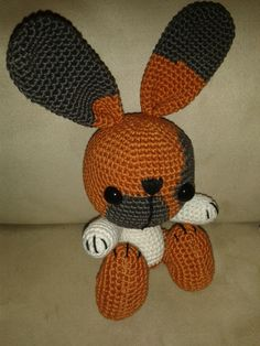 "bunny ""Fien"". The patern (Suzu) is from antionette . http://justmadewithlove.blogspot.nl/ (Dutch pattern)"