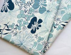 HALF YARD gray flower Indian  cotton fabric by ChezviesSupplies, $2.50