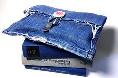 Book Bag Jeans Clutch