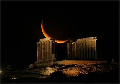 The Temple of Poseidon in Athens, Greece
