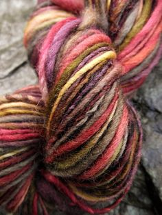Handspun yarn, handpainted thick and thin hand dyed Merino wool yarn, multiple skeins available-MERCURIAL by Yarnachy on @Etsy