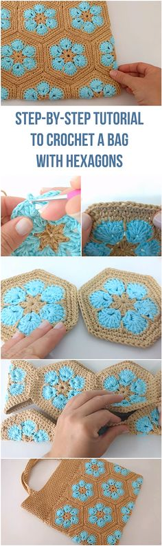 Looking for a DIY guide to crochet a bag? How about a free tutorial + free video? it's all here in this step-by-step tutorial to crochet a bag with hexagons! And it's all free! | Crochet Tutorials For Beginners | Stitch Tutorial | Free Video Crochet Tutorial | Free Step-by-step Tutorial Crochet | Free Crochet Tutorials For Beginners | DIY Crochet Free Tutorials For Beginners | Free DIY Crochet Video Tutorial | Hexagon Bag Tutorial | DIY Bag Tutorial For Beginners | Free DIY Bag...