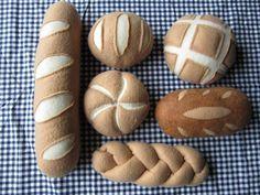 Filz-Lebensmittel: Brot legen von Pantalow auf Etsy