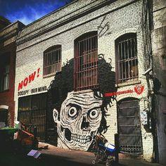 The Tenderloin, San Francisco. Graffiti street art Murals