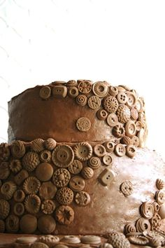 Vintage Chocolate Buttons Cake