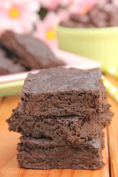 midnight dark chocolate brownies