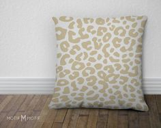 Leopard Print Pillow Cover  Animal Print Accent by MotifMotifShop