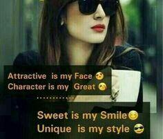 Attitude Status Girls, Attitude Quotes For Girls, My Attitude, True Love  Quotes,