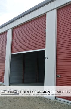 Our Mini Storage Buildings can be designed to any dimension, Offering Endless Design Flexibility!  #ministorage #selfstorage #storage #storageunits #metalbuildings #construction
