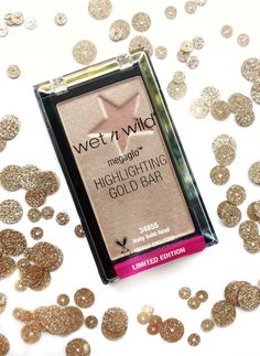 Wet N Wild MegaGlo Highlighting GOLD BAR (review & swatches click link below)   http://www.budgetbeautyblog.com/2016/10/wet-n-wild-gold-bar-highlighter-review.html?m=1
