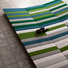 Textile Field by Ronan & Erwan Bouroullec - The Textile Field installation covers 240 square metres of the gallery floor and encourages gallery visitors to lie down when looking at the renaissance artworks...this would be my living room