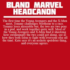 The first time the Young Avengers and the X-Men meet, Tommy challenges Northstar…