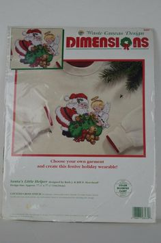 #Dimensions #8482 #Santa's #Little #Helper #Cross #Stitch  #Dimensions