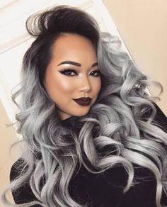 Imagini pentru gray ombre hair