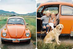 A VW and a Golden Retriever=Love!