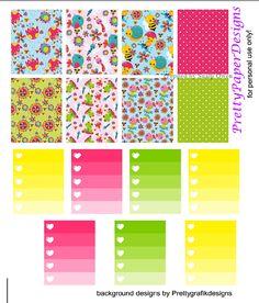 FREE Spring Begins Planner Stickers by Prettypaper Designs