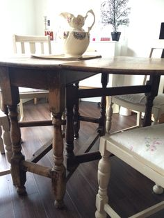 Beautiful Solid Wood Drop Leaf Table For Sale Nottingham