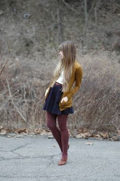 Indulge In Fall Colors - All The Different Ways To Wear Tights This Fall - Photos