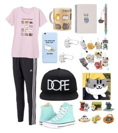 """You've cat to be kitten me!"" by cupakeartist30 ❤ liked on Polyvore featuring interior, interiors, interior design, home, home decor, interior decorating, adidas, Pusheen, Converse and 21 Men"
