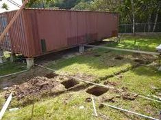 Image result for Concrete blocks for shipping container house