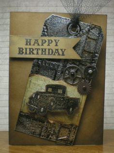 Steampunk...what a fabulous masculine tag/card