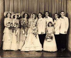 BRIDAL PARTY 1948..... | Flickr - Photo Sharing!