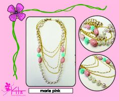marie pink necklace  www.facebook.com/kittykitzinfo