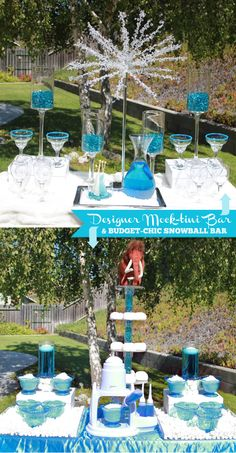 """Look For Less: Ice Age Movie Inspired Dessert Table The Look For Less: """"Ice Age"""" Movie Inspired Snowball Bar ~ I'd bet this would be a fun wedding theme!The Look For Less: """"Ice Age"""" Movie Inspired Snowball Bar ~ I'd bet this would be a fun wedding theme! Frozen Theme, Frozen Party, Ice Age Birthday Party, 5th Birthday, Ice Age Movies, Frozen Wedding, Summer Wedding, Penguin Party, Low Cost Wedding"""