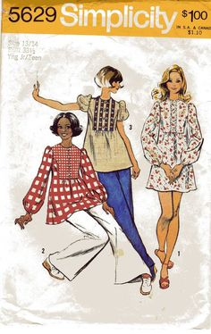 1973 Simplicity 5629 Vintage Sewing Pattern Misses by cositasusa, $5.00