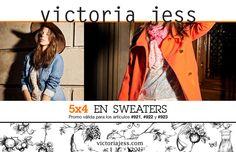 Siguen las #SUPER #PROMOS de #VictoriaJess... ¡¡¡ Esta vez en #sweaters !!! Hay muchas opciones y colores... ¡No te pierdas la oportunidad de renovar tu armario para este #invierno 2015! --  Te esperamos en Loyola 640, Palermo, CABA   Lunes a Viernes, #AHORA de 10 a 18hs