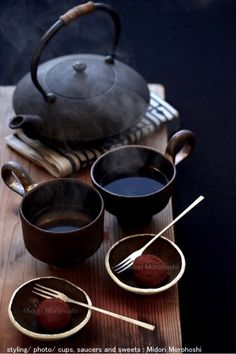 """Period from the end of January to the beginning of February is called """"Kan-no-uchi"""". It's the most cold season in Japan. I cooked  Warabi-mochi(Japanese sweets) flavoed with Houjicha(roastedtea) and chocorate. Bittersweet taste of Roasted-tea and chocorate fit various drinks.  ✳︎Midori Morohoshi"""